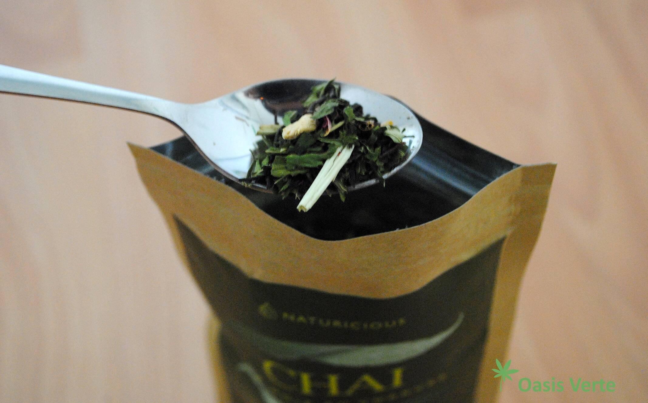 packaging the de chanvre naturicious ouvert cuillere